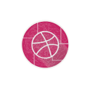 ball, dribbble, internet, network, social, web icon
