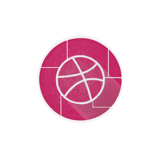 ball, dribbble, internet, network, social, web icon