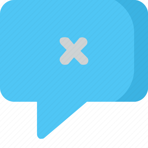 chat, comment, conversation, delete, message icon