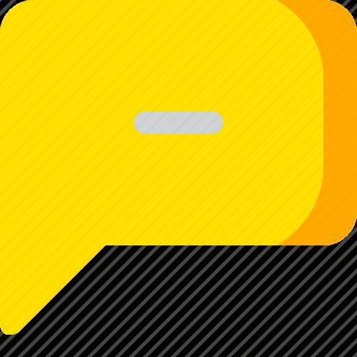 chat, comment, conversation, message, minus icon
