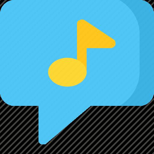 chat, comment, conversation, message, music icon
