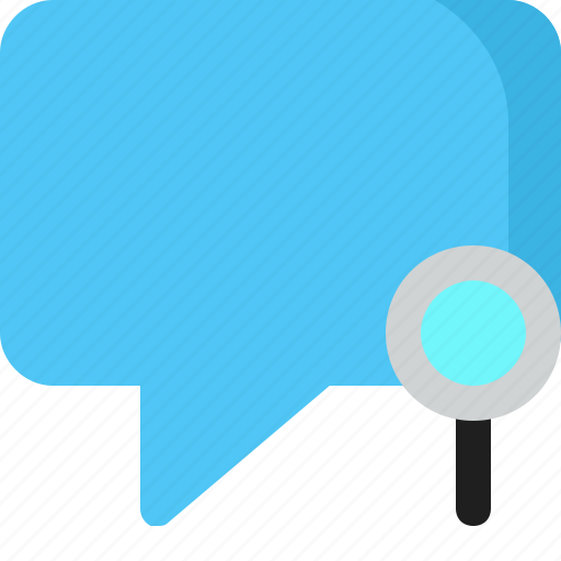 chat, comment, conversation, message, search icon