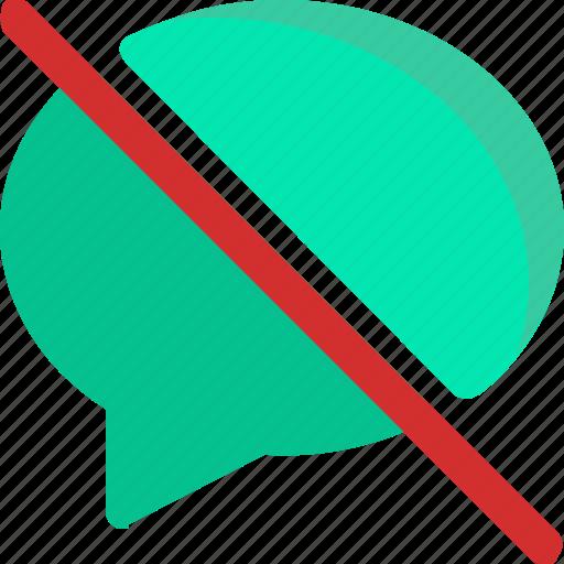 chat, comment, conversation, message, slash icon
