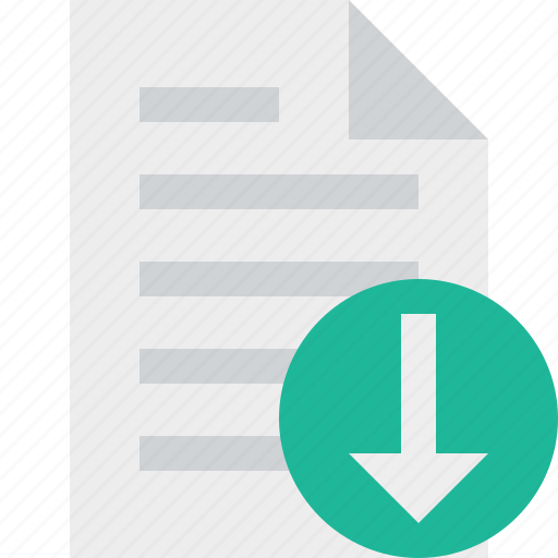 document, download, file, page, paper icon