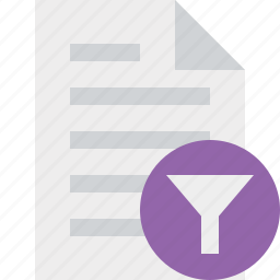 document, file, filter, page, paper icon