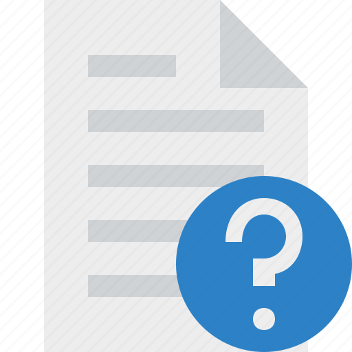 document, file, help, page, paper icon