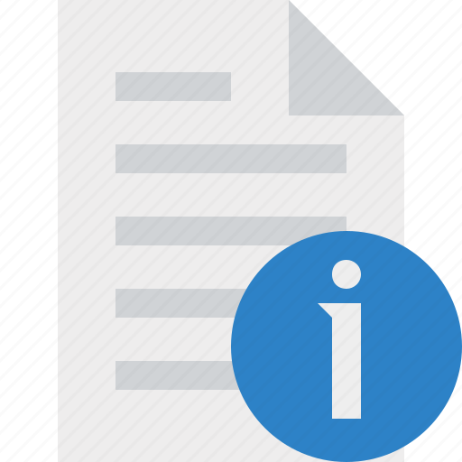 document, file, information, page, paper icon