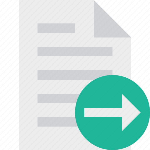 document, file, next, page, paper icon