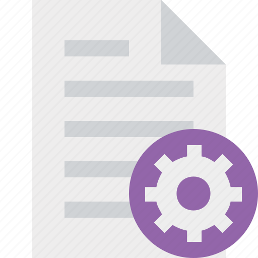 document, file, page, paper, settings icon