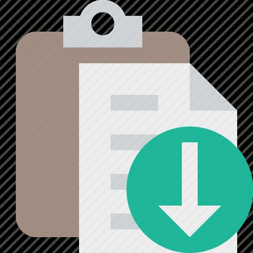 clipboard, copy, download, paste, task icon