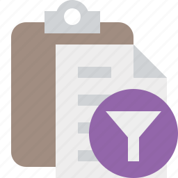 clipboard, copy, filter, paste, task icon