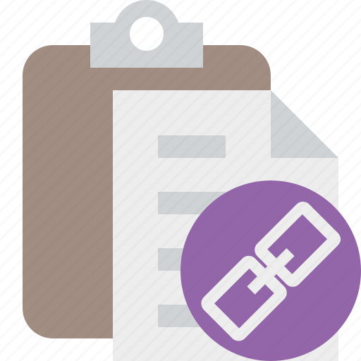 clipboard, copy, link, paste, task icon