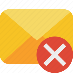 cancel, communication, email, letter, mail, message icon