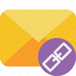 communication, email, letter, link, mail, message icon