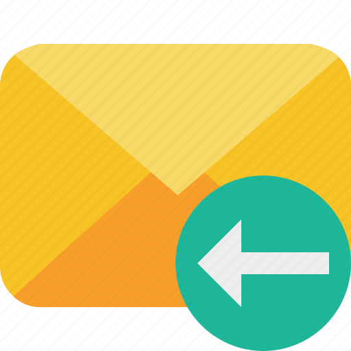 communication, email, letter, mail, message, previous icon