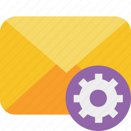 communication, email, letter, mail, message, settings icon