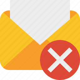cancel, communication, email, letter, mail, message, read icon