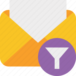 communication, email, filter, letter, mail, message, read icon