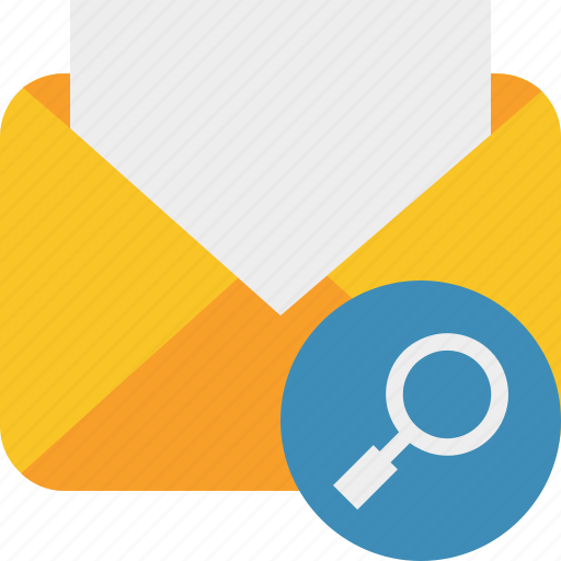 communication, email, letter, mail, message, read, search icon