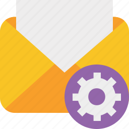 communication, email, letter, mail, message, read, settings icon