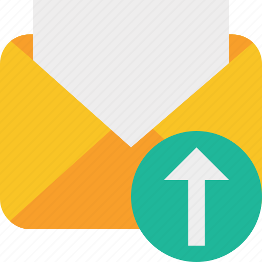 communication, email, letter, mail, message, read, upload icon