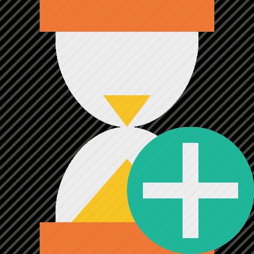 add, alarm, clock, timer, wait, watch icon