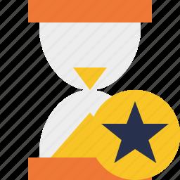 alarm, clock, star, timer, wait, watch icon