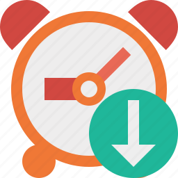alarm, clock, download, event, schedule, time, timer icon