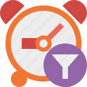 alarm, clock, filter, event, schedule, time, timer