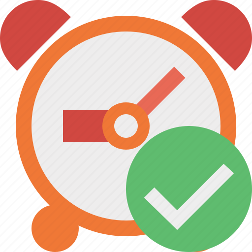 alarm, clock, event, ok, schedule, time, timer icon