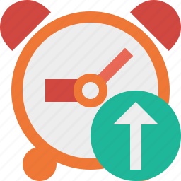 alarm, clock, event, schedule, time, timer, upload icon