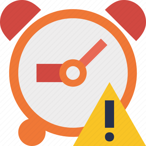 alarm, clock, event, schedule, time, timer, warning icon