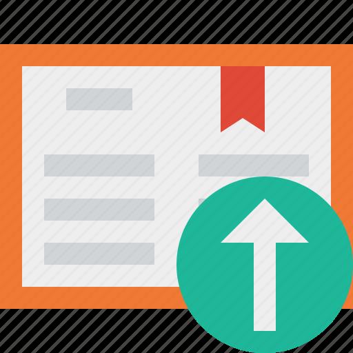 address, book, bookmark, reading, upload icon