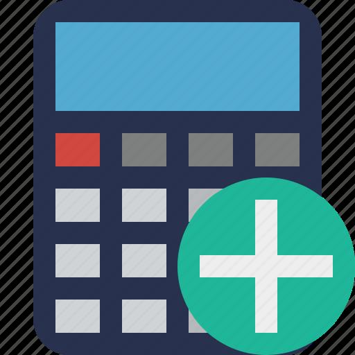 accounting, add, calculate, calculator, finance, math icon