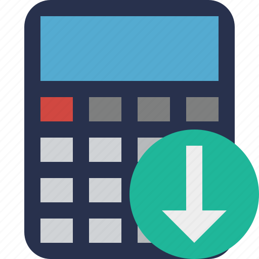 accounting calculate calculator download finance math icon