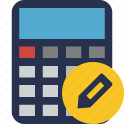 accounting, calculate, calculator, edit, finance, math icon