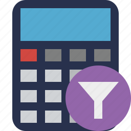 accounting, calculate, calculator, filter, finance, math icon