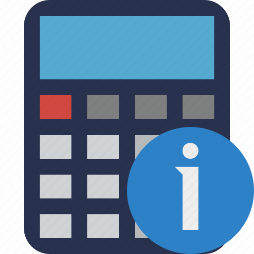 accounting, calculate, calculator, finance, information, math icon