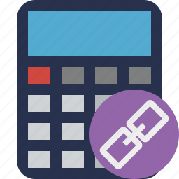 accounting, calculate, calculator, finance, link, math icon