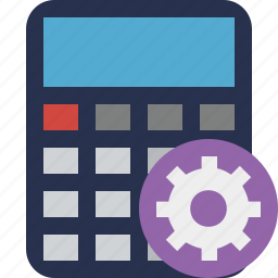 accounting, calculate, calculator, finance, math, settings icon