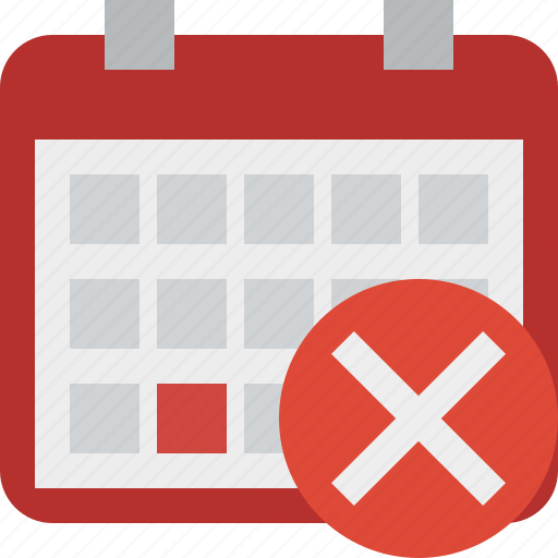 calendar, cancel, date, day, event, month, schedule icon