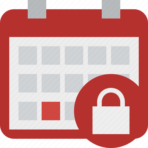 calendar, date, day, event, lock, month, schedule icon
