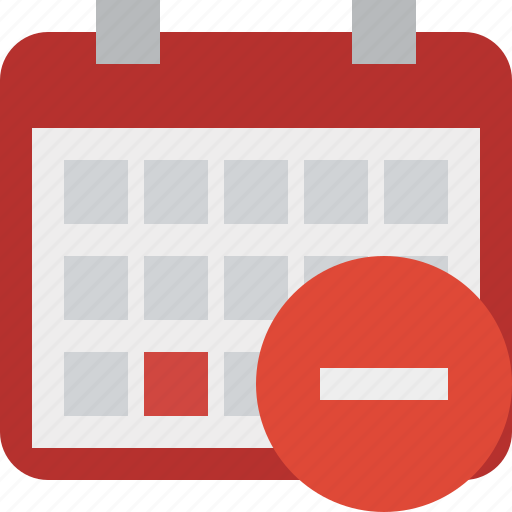 calendar, date, day, event, month, schedule, stop icon