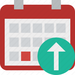 calendar, date, day, event, month, schedule, upload icon