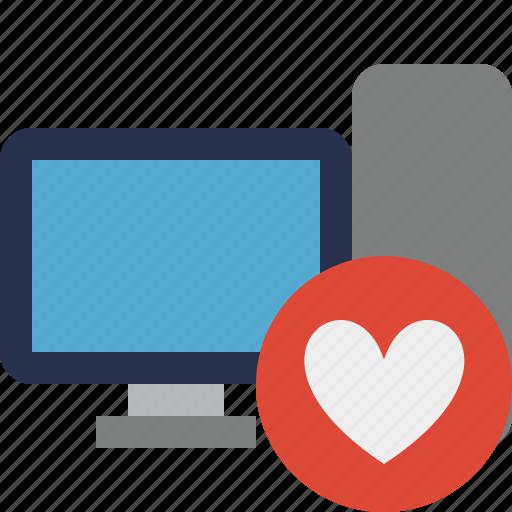 computer, desktop, favorites, monitor, server icon