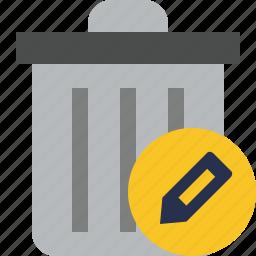 delete, edit, garbage, remove, trash icon