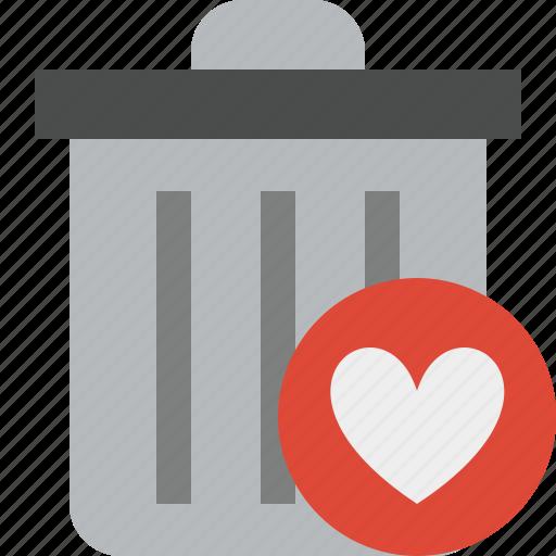 delete, favorites, garbage, remove, trash icon