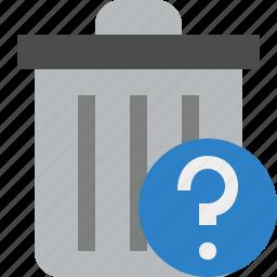 delete, garbage, help, remove, trash icon