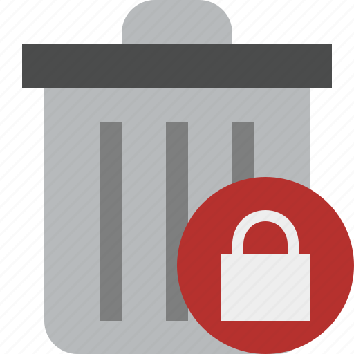 delete, garbage, lock, remove, trash icon