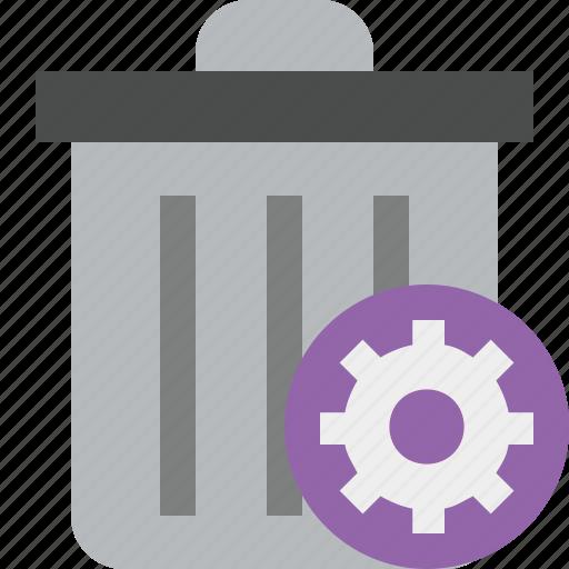delete, garbage, remove, settings, trash icon